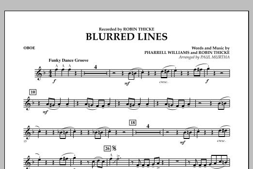 Blurred Lines - Oboe (Concert Band)
