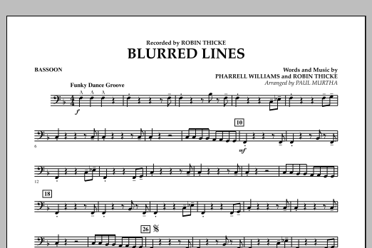 Blurred Lines - Bassoon (Concert Band)