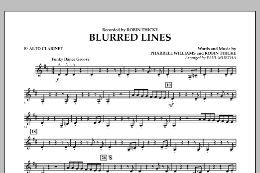 Blurred Lines - Eb Alto Clarinet (Concert Band)