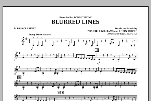 Blurred Lines - Bb Bass Clarinet (Concert Band)