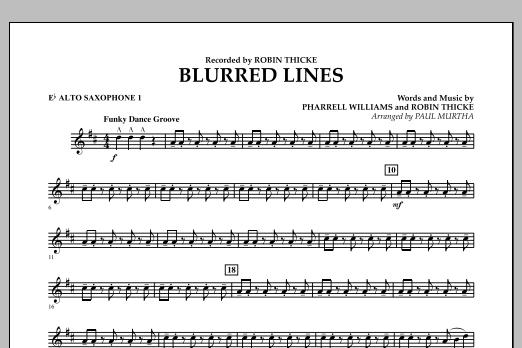 Blurred Lines - Eb Alto Saxophone 1 (Concert Band)