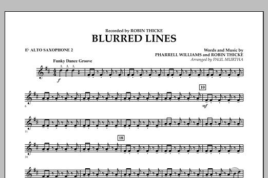 Blurred Lines - Eb Alto Saxophone 2 (Concert Band)