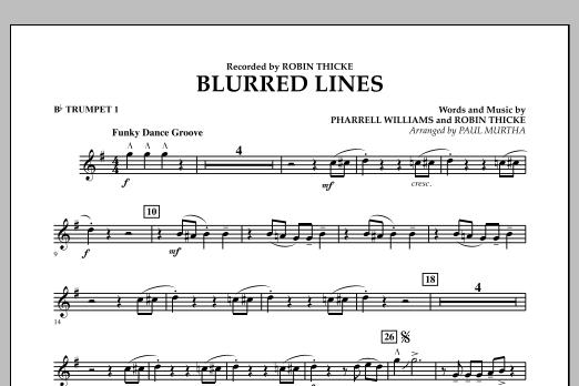 Blurred Lines - Bb Trumpet 1 (Concert Band)