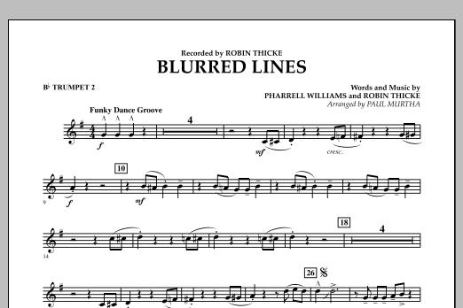 Blurred Lines - Bb Trumpet 2 (Concert Band)