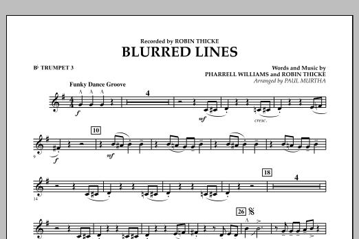 Blurred Lines - Bb Trumpet 3 (Concert Band)