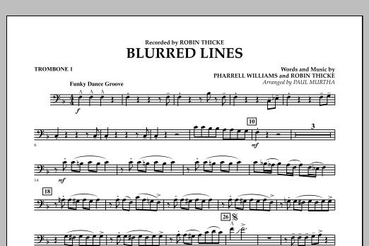Blurred Lines - Trombone 1 (Concert Band)