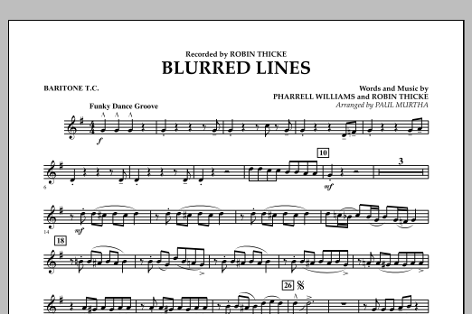 Blurred Lines - Baritone T.C. (Concert Band)