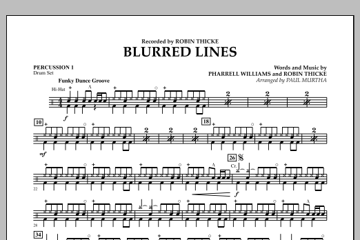 Blurred Lines - Percussion 1 (Concert Band)