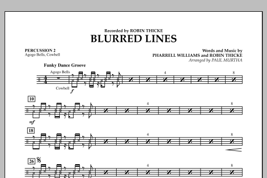 Blurred Lines - Percussion 2 (Concert Band)