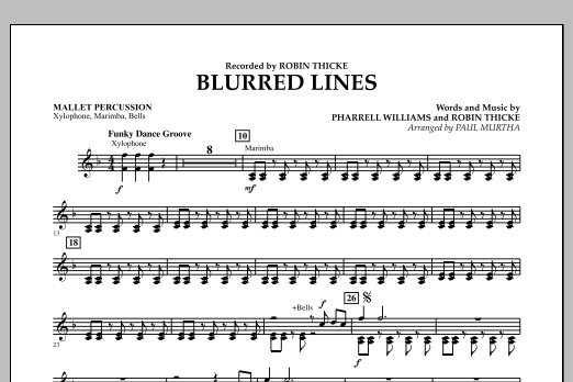 Blurred Lines - Mallet Percussion (Concert Band)