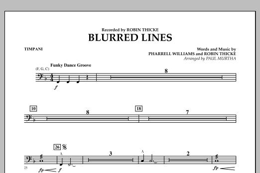 Blurred Lines - Timpani (Concert Band)