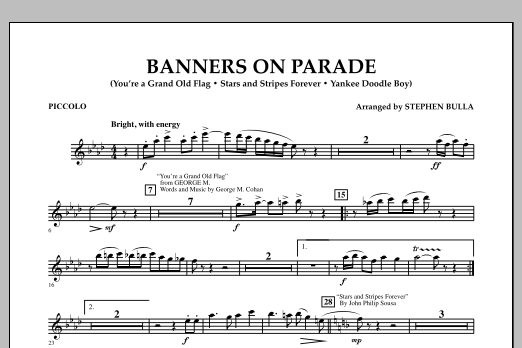 Banners on Parade - Piccolo (Concert Band)