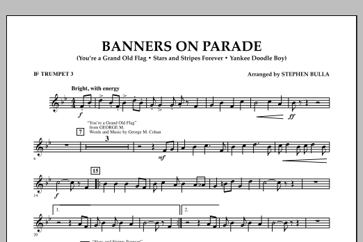 Banners on Parade - Bb Trumpet 3 (Concert Band)
