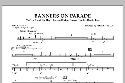 Banners on Parade - Percussion 2 (Concert Band)