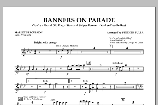 Banners on Parade - Mallet Percussion (Concert Band)