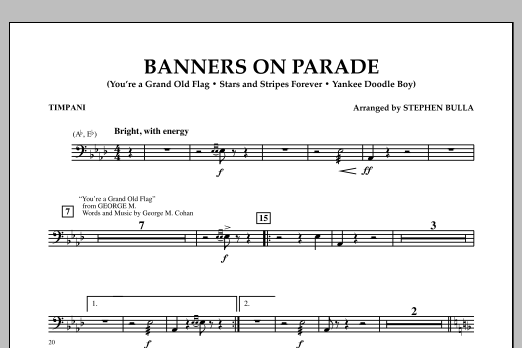 Banners on Parade - Timpani (Concert Band)