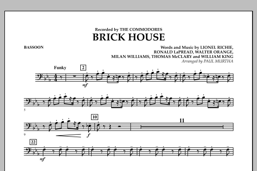 Brick House - Bassoon (Concert Band)