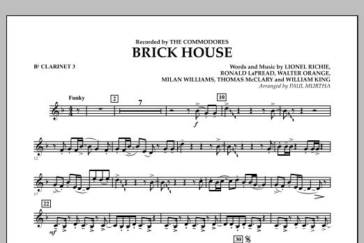 Brick House - Bb Clarinet 3 (Concert Band)