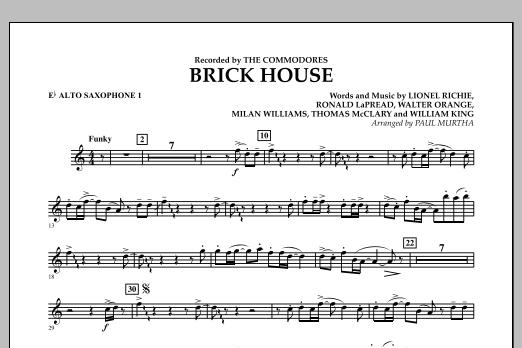 Brick House - Eb Alto Saxophone 1 (Concert Band)