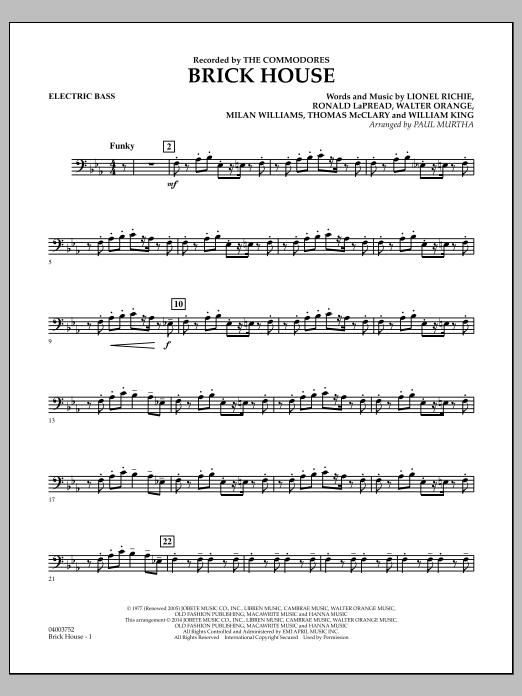 Brick House - Electric Bass (Concert Band)