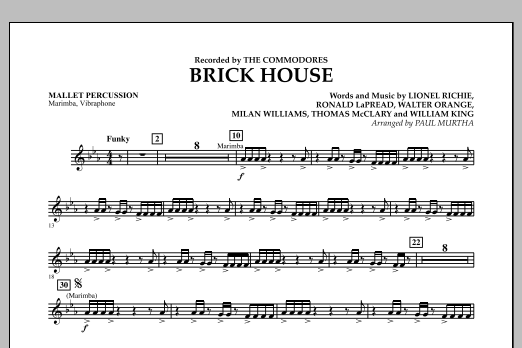 Brick House - Mallet Percussion (Concert Band)