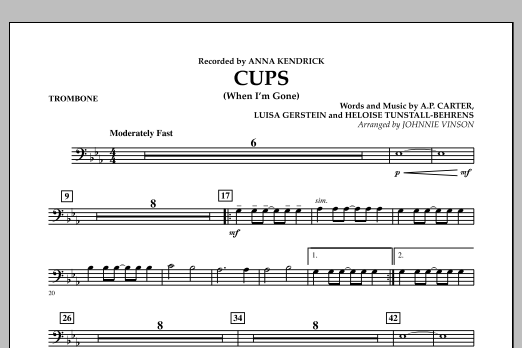 Cups (When I'm Gone) - Trombone (Concert Band)