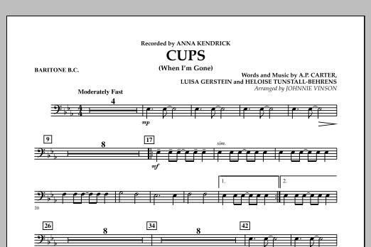 Cups (When I'm Gone) - Baritone B.C. (Concert Band)