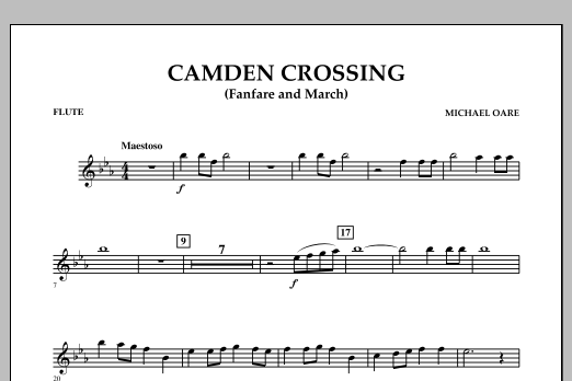 Camden Crossing (Fanfare and March) - Flute (Concert Band)