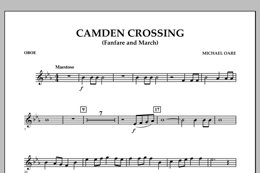 Camden Crossing (Fanfare and March) - Oboe (Concert Band)