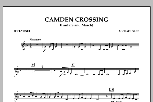 Camden Crossing (Fanfare and March) - Bb Clarinet (Concert Band)