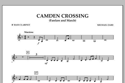 Camden Crossing (Fanfare and March) - Bb Bass Clarinet (Concert Band)