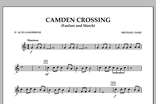 Camden Crossing (Fanfare and March) - Eb Alto Saxophone (Concert Band)