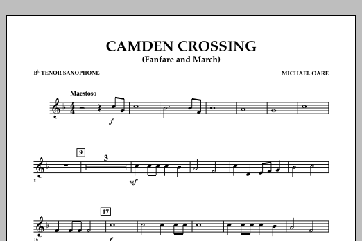 Camden Crossing (Fanfare and March) - Bb Tenor Saxophone (Concert Band)
