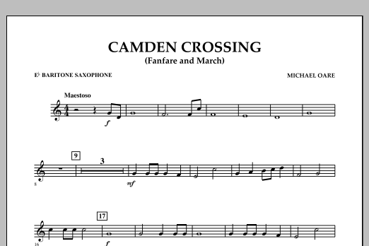 Camden Crossing (Fanfare and March) - Eb Baritone Saxophone (Concert Band)