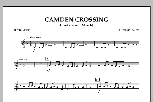 Camden Crossing (Fanfare and March) - Bb Trumpet (Concert Band)