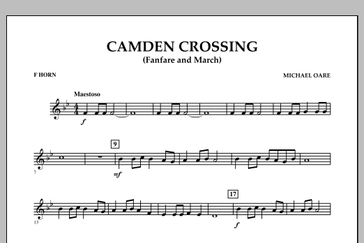 Camden Crossing (Fanfare and March) - F Horn (Concert Band)