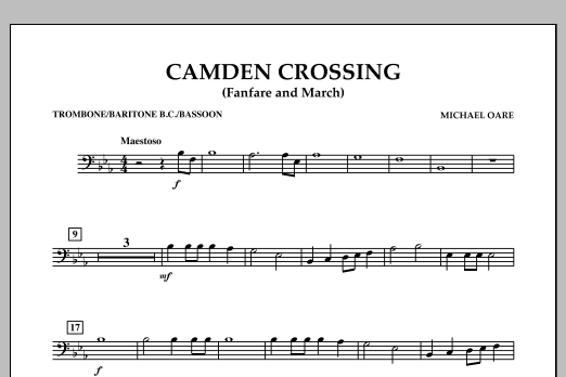 Camden Crossing (Fanfare and March) - Trombone/Baritone B.C./Bassoon (Concert Band)