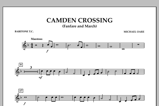 Camden Crossing (Fanfare and March) - Baritone T.C. (Concert Band)