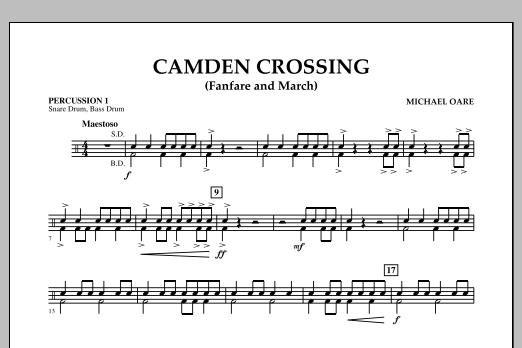 Camden Crossing (Fanfare and March) - Percussion 1 (Concert Band)