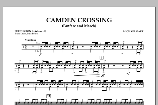 Camden Crossing (Fanfare and March) - Percussion 1 (Advanced) (Concert Band)