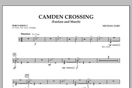 Camden Crossing (Fanfare and March) - Percussion 2 (Concert Band)