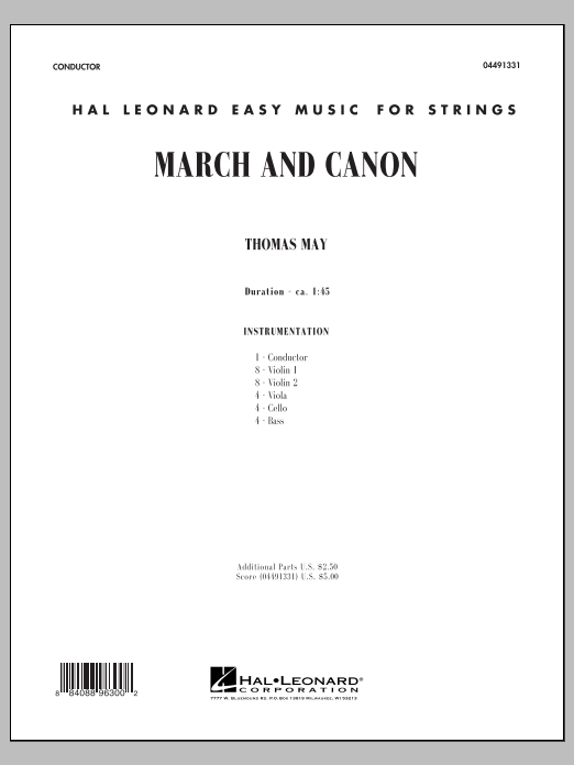 March and Canon (COMPLETE) sheet music for orchestra by Tom May. Score Image Preview.