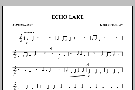 Echo Lake - Bb Bass Clarinet (Concert Band)