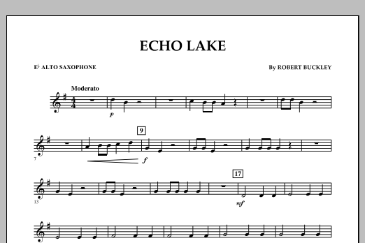 Echo Lake - Eb Alto Saxophone (Concert Band)
