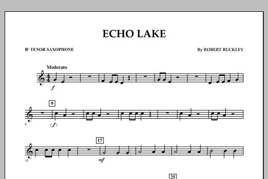 Echo Lake - Bb Tenor Saxophone (Concert Band)