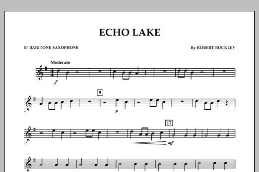 Echo Lake - Eb Baritone Saxophone (Concert Band)