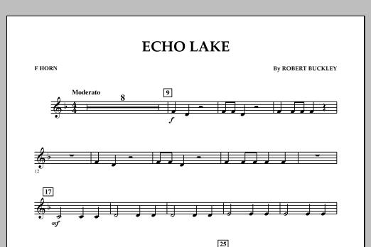 Echo Lake - F Horn (Concert Band)