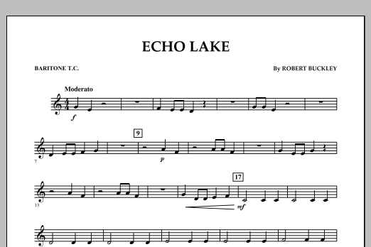 Echo Lake - Baritone T.C. (Concert Band)