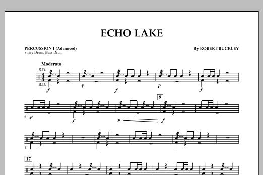 Echo Lake - Percussion 1 (Advanced) (Concert Band)