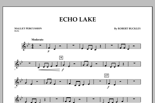 Echo Lake - Mallet Percussion (Concert Band)